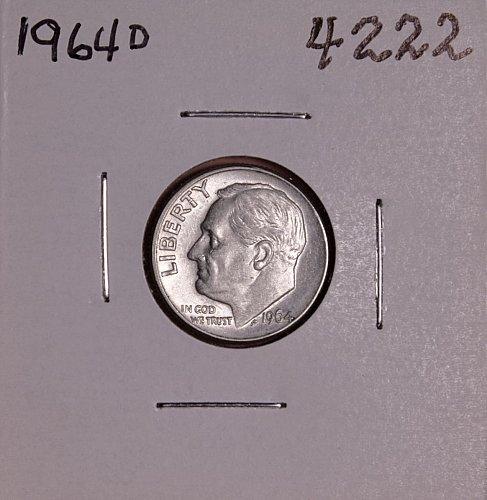 1964 D ROOSEVELT DIME #4222