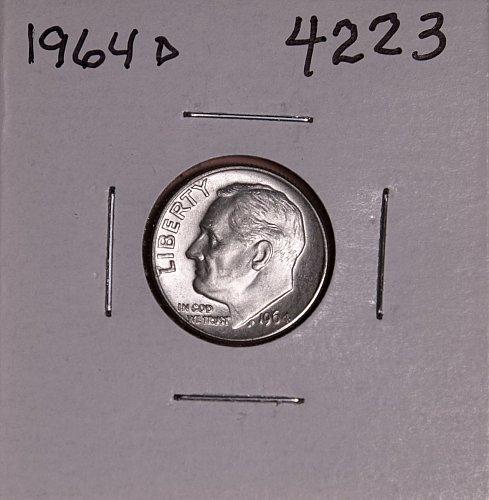1964 D ROOSEVELT DIME #4223
