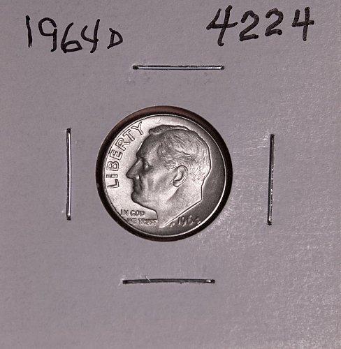 1964 D ROOSEVELT DIME #4224