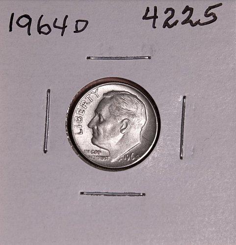 1964 D ROOSEVELT DIME #4225