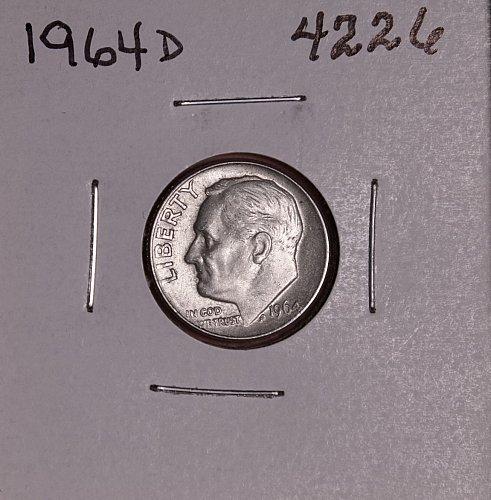 1964 D ROOSEVELT DIME #4226