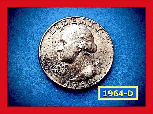 1964-D   Washington Quarter •• Circulated •• (#2480)