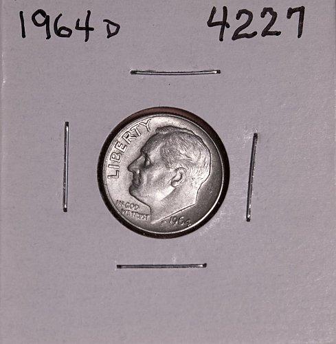 1964 D ROOSEVELT DIME #4227