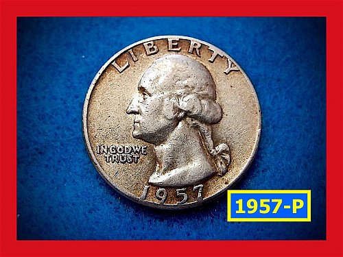 1957-P   Washington Quarter •• Circulated •• (#2479)