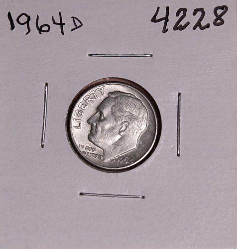 1964 D ROOSEVELT DIME #4228