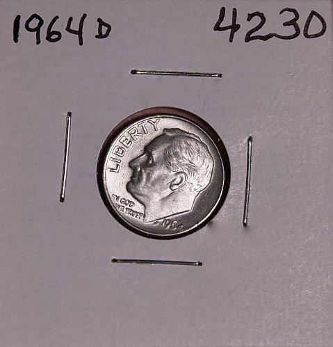 1964 D ROOSEVELT DIME BU-MS #4230