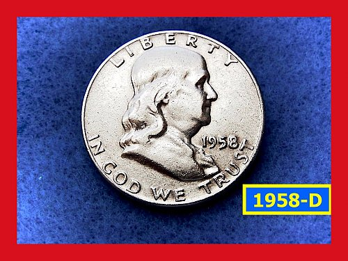 1958-D  Franklin Half Dollars ––– Circulated    (#1584)