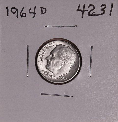 1964 D ROOSEVELT DIME UNC #4231