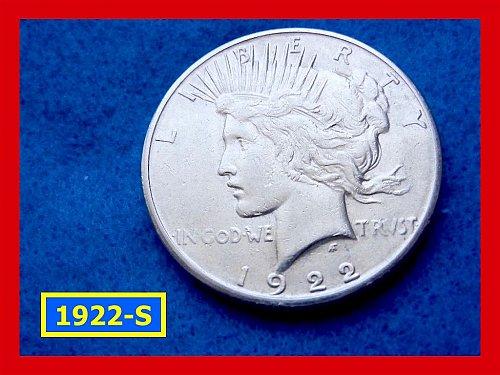 "1922-S Prace Dollar •••""VF-20"" Condition  •••  (#5285)"