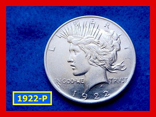 "1922-P Prace Dollar • • • ""VF-20"" Condition  •••  (#5286)"