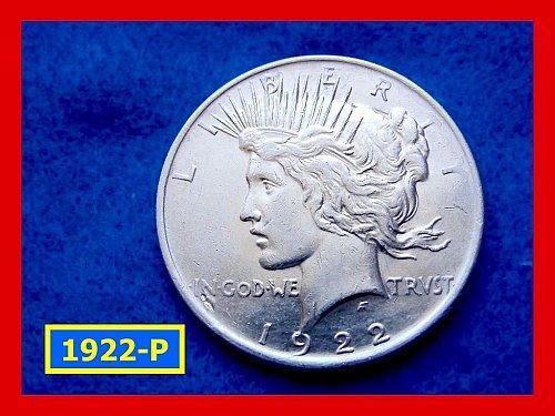 "1922-P Prace Dollar •••""VF-20"" Condition  •••  (#5286)"