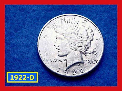 "1922-D Prace Dollar •••XF-40"" Condition  •••  (#5284)"
