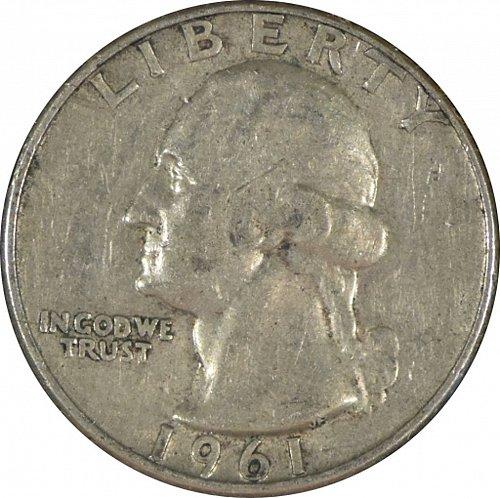 1961 D Washington Quarter,   (Item 352)