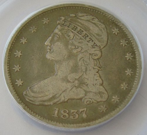 1837 P Capped Bust Half Dollar - F-15 - ANACS Graded