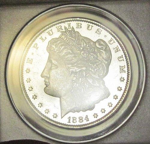 1884 O Morgan Dollar - MS-62 - ANACS Graded