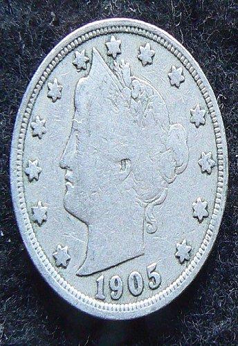 1905 P Liberty Nickel (F-12)