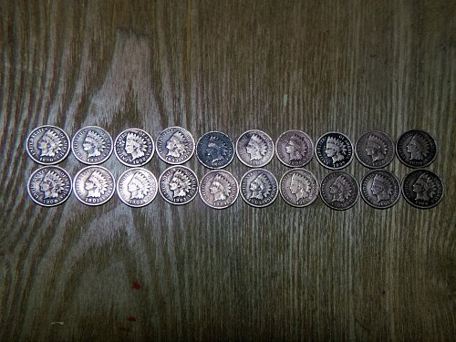 1890 Thru 1909 Indian Head Penny Set