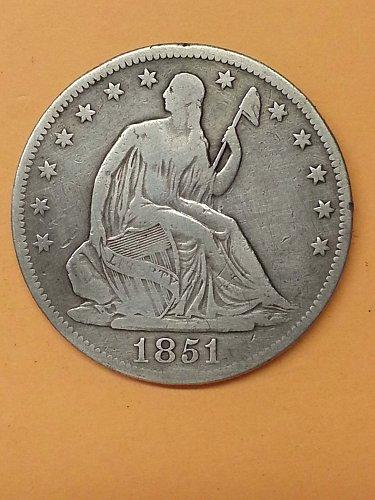 1851-O Seated Liberty Half Dollar