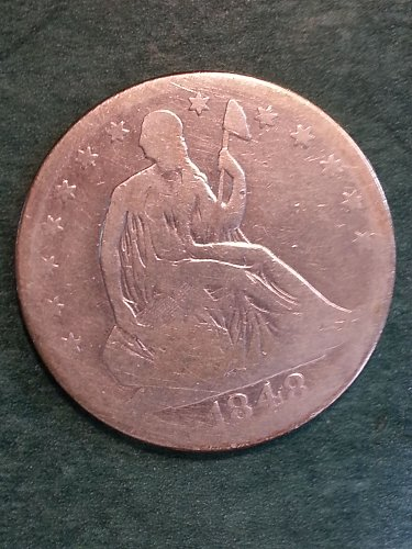 1848-O Seated Liberty Half Dollar