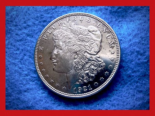 "1921-P MORGAN DOLLAR • • •   ""Circulated""  (#5241)"
