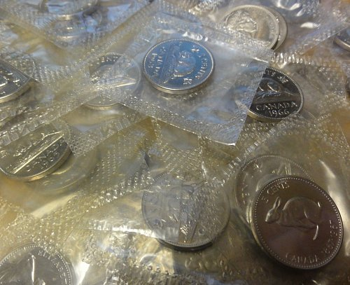 Canadian Proof Like Nickels Lot of 65