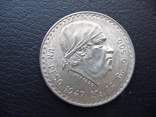 1947 Mexico un Peso