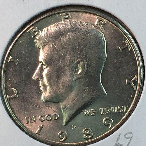 1989-D Kennedy Half Dollar (40345)