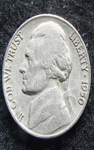 1950 P Jefferson Nickel (F-12)