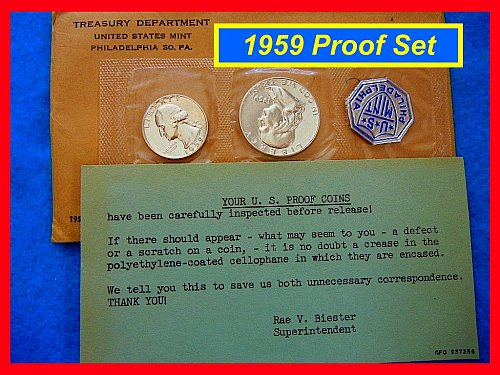1959 PROOF SET - Original Mint Flat-Pack ••••  (#9111)
