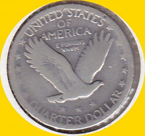 1927P STANDING LIBERTY Quarter  25C  (#439)