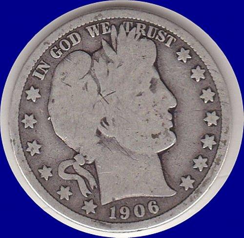 1906 D  Barber Half Dollar  50C       **(#427)