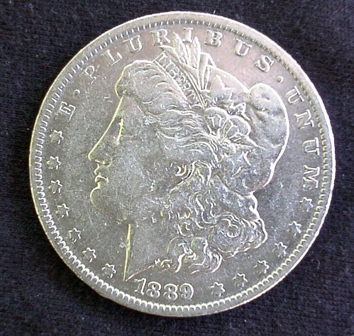 1889 O Morgan Silver Dollar AU 58