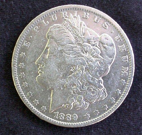 1889 O Morgan Silver Dollar AU 58