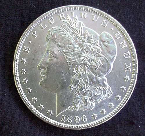 1896 P Morgan Silver Dollar AU 58