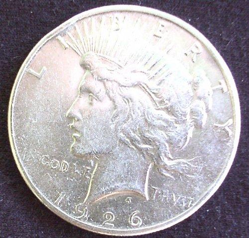 1926 S Peace Dollar AU 58+
