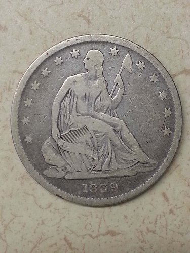 1839 Seated Liberty Half