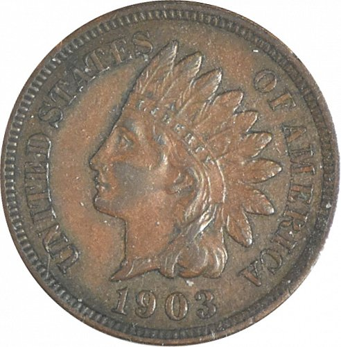 1903 P Indian Cent, (Item 355)