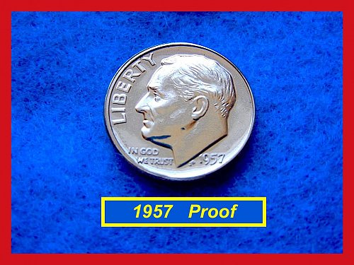 PROOF 1957 Roosevelt Dime    (#3420)