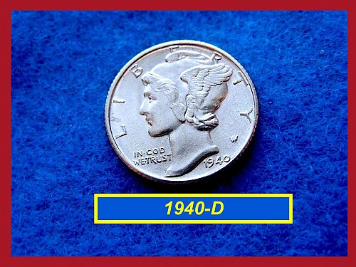 1940–D   Dazzling Brilliant Uncirculated Mercury Dime  🎯   (#3276a)