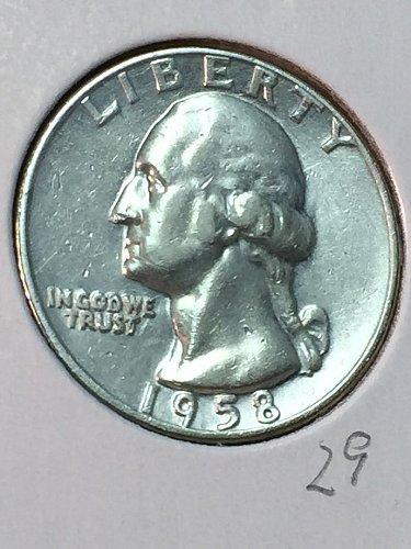 1958-D Washington Quarter (10072)