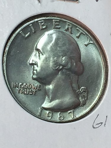 1967-P Washington Quarter (10088)