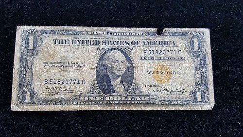 1935A $1 Silver Certificate North Africa Emergency Issue  #1