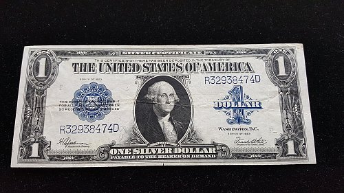 1923 $1 Silver Certificate Large Size Currency XF-AU