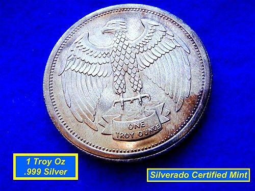 Silverado Mint 1 Troy Oz  Silver Round   •••  (#9107)
