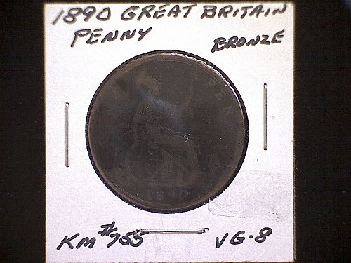1890 GREAT BRITAIN ONE PENNY QUEEN VICTORIA