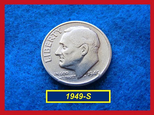 1949-S Roosevelt Dime ••• Circulated  •••   (#3421)