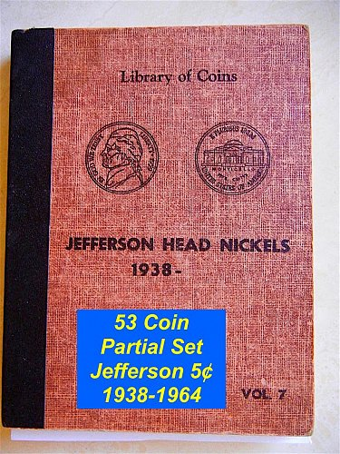 53 Coin Partial Set Jefferson Nickels 1938-1964 ***** (#6086)
