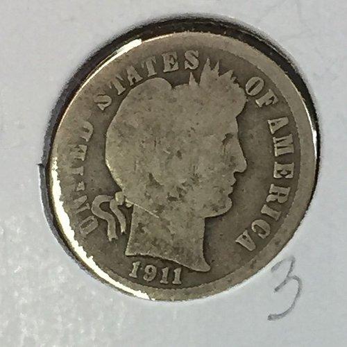 1911-P Barber Dime (10096)