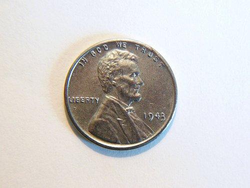 1943-P Steel Wheat Cent