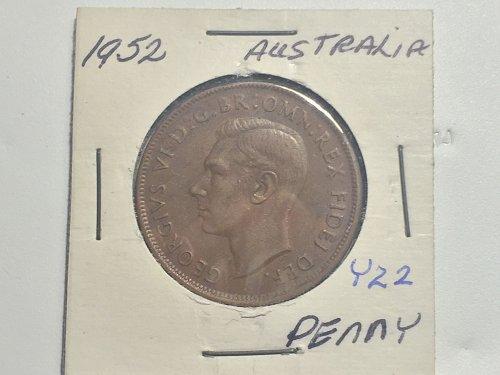 1952 Australia Penny